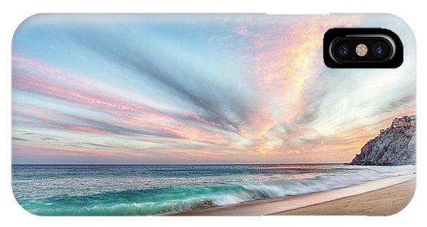 IPhone Case featuring the photograph Cabo San Lucas Beach Wave Sunset by Nathan Bush