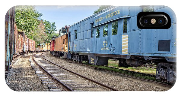 Red Caboose iPhone Case - Caboose Village Tilton New Hampshire by Edward Fielding