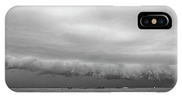 Cactus Roll Cloud Bw IPhone Case