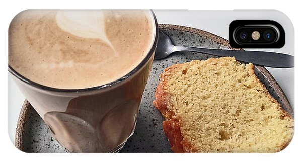 Cafe. Latte And Cake.  IPhone Case