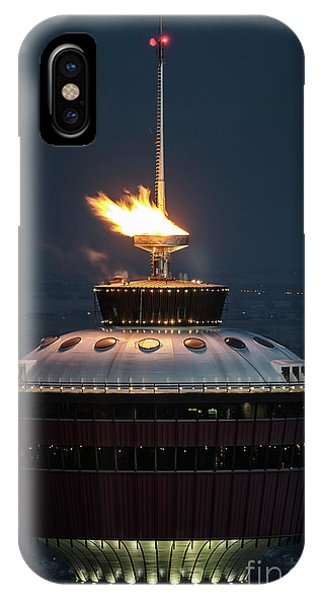 IPhone Case featuring the photograph Calgary Tower - 2014 Olympic Torch by Brad Allen Fine Art