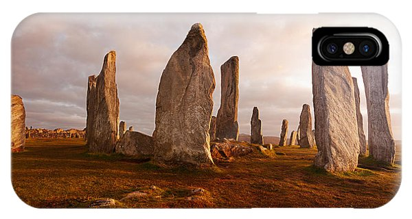 Celtics iPhone Case - Callanish Standing Stones Neolithic by Unknown1861