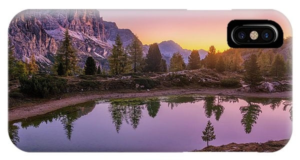 Calm Morning On Lago Di Limides IPhone Case
