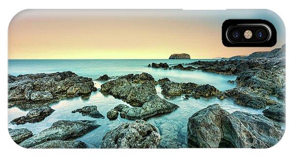 Calm Rocky Coast In Greece IPhone Case