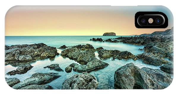 IPhone Case featuring the photograph Calm Rocky Coast In Greece by Milan Ljubisavljevic