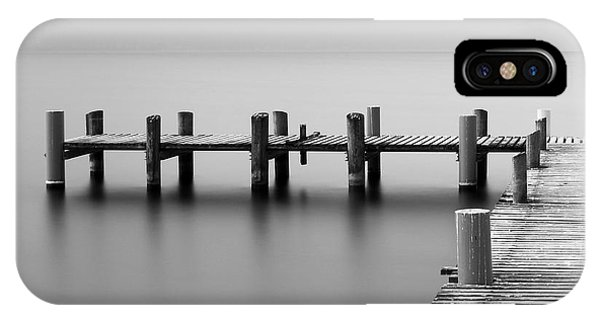 Serenity iPhone Case - Calm Scene In Black And White With by Sascha Corti