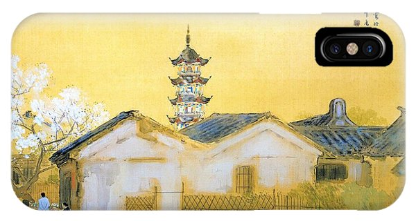 China Town iPhone Case - Calm Spring In Jiangnan - Digital Remastered Edition by Takeuchi Seiho