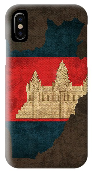Cambodia iPhone Case - Cambodia Country Flag Map by Design Turnpike