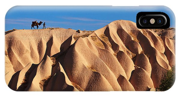 Cappadocia iPhone Case - Camel And The Cameleer On The Rock And by Yavuz Sariyildiz
