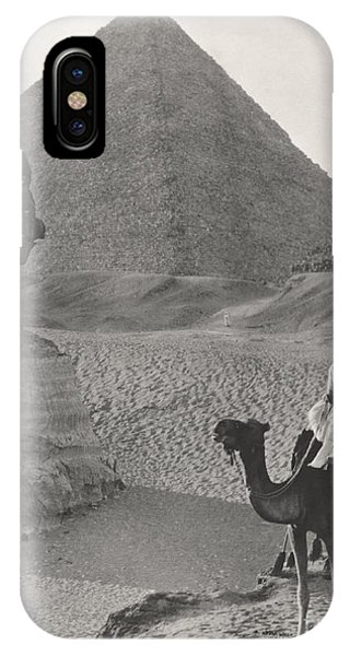Egyptian iPhone X Case - Camel Ride At The Sphinx And Pyramids by Everett Collection