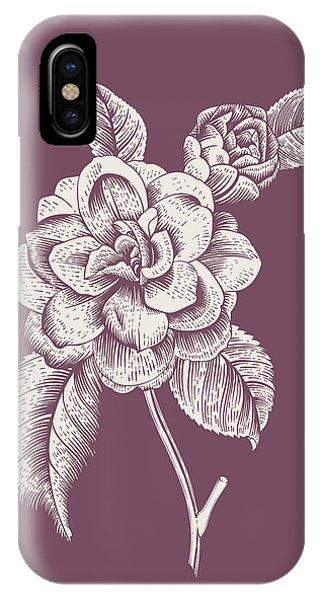 Bouquet iPhone X Case - Camelia Purple Flower by Naxart Studio