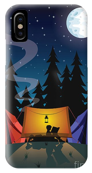 Space iPhone Case - Camping by Nikola Knezevic