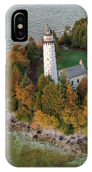 IPhone Case featuring the photograph Cana Island Lighthouse At Dawn by Adam Romanowicz