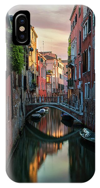 iPhone Case - Canals Of Venice At Early Morning by Jaroslaw Blaminsky