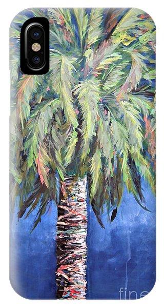 Canary Island Palm- Warm Blue I IPhone Case
