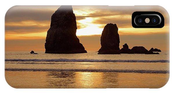 Cannon Beach November Sunset IPhone Case