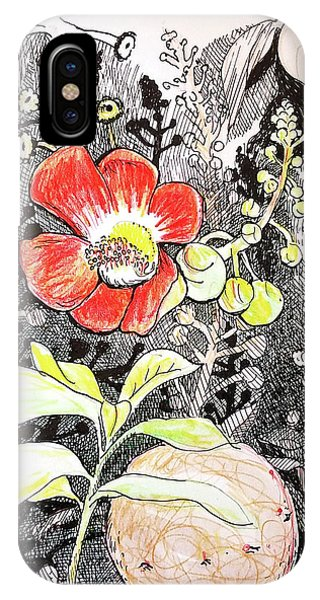 Cannonball Flower Botanical IPhone Case
