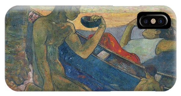 Van Gogh Museum iPhone Case - Canoe, Tahitian Family, 1896 by Paul Gauguin