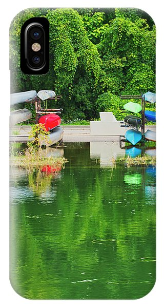 IPhone Case featuring the photograph Canoes - Yahara River - Madison by Steven Ralser