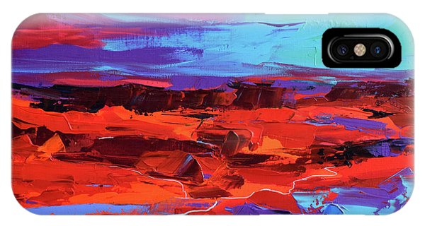 Fauvism iPhone Case - Canyon At Dusk by Elise Palmigiani