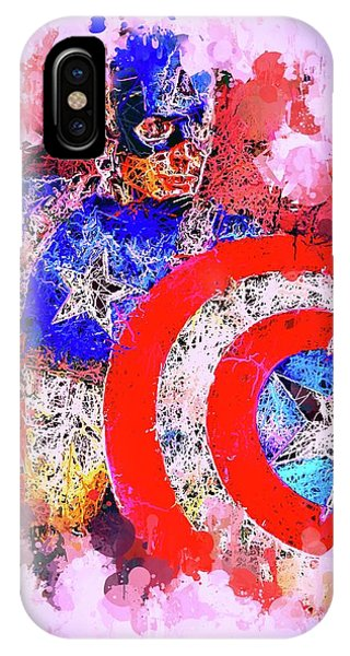 Captain America Watercolor IPhone Case
