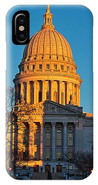 Capitol - Madison - Wisconsin Sunset IPhone Case