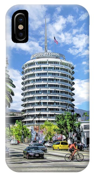 Capitol iPhone Case - Capitol Records In Los Angeles by Christopher Arndt