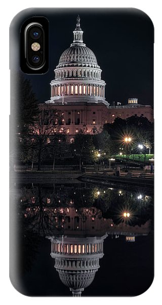 Lincoln Memorial iPhone Case - Capitol Reflection by Robert Fawcett