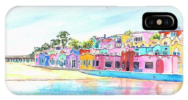 Capitola California Colorful Houses IPhone Case