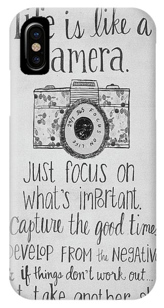 Capture Whats Important IPhone Case