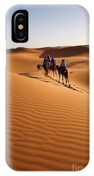 Heat iPhone Case - Caravan Going Through The Sand Dunes In by Yongyut Kumsri