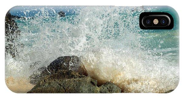 Carribbean iPhone Case - Caribbean Charismatic Ocean Splash   by Betsy Knapp