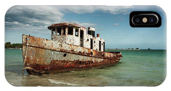 Caribbean Shipwreck 21002 IPhone Case
