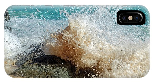Carribbean iPhone Case - Caribbean Wave Natural Design by Betsy Knapp