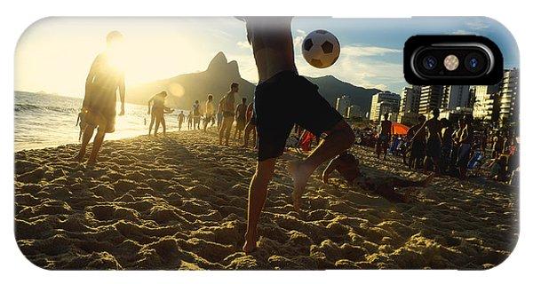 South America iPhone Case - Carioca Brazilians Playing Altinho by Lazyllama