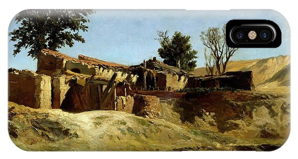 Dilapidation iPhone Case - Carlos De Haes / 'tile Factories On Principe Pio Hill', Ca. 1872, Spanish School. by Carlos de Haes -1829-1898-