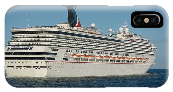 IPhone Case featuring the photograph Carnival Liberty Headed To Sea by Bradford Martin