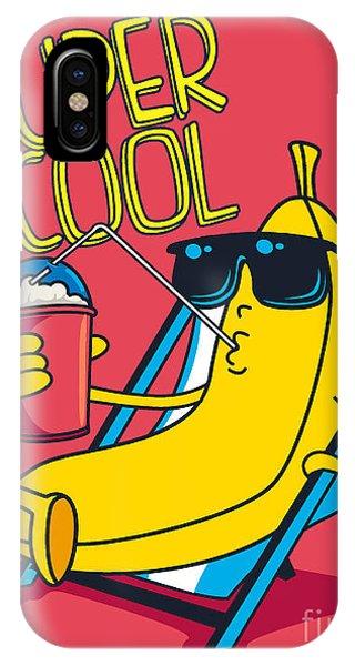 Ice iPhone Case - Cartoon Banana Vector Character by Braingraph
