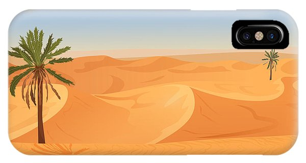 Vector iPhone Case - Cartoon Nature Sand Desert Landscape by Lemberg Vector Studio