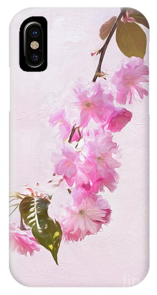 Cascading Kwanzan Cherry Blossoms IPhone Case