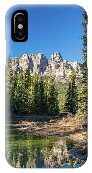 Castle Cliffs And Reflections IPhone Case