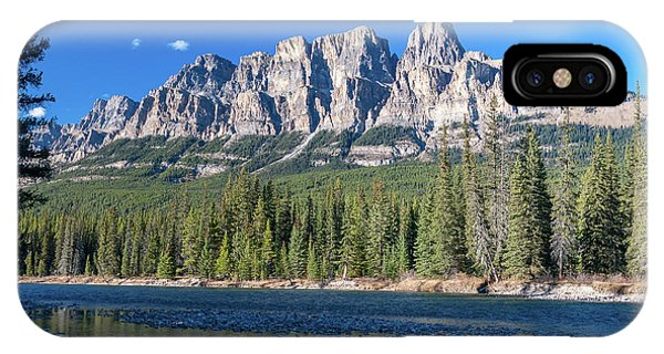 Castle Cliffs From The Bow River IPhone Case