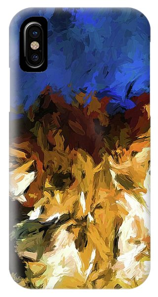Cat And The Cobalt Blue Wall IPhone Case