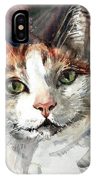 iPhone Case - Cat In Watercolor by Maria Reichert