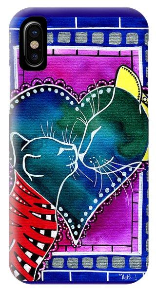 Cat Mom Love IPhone Case