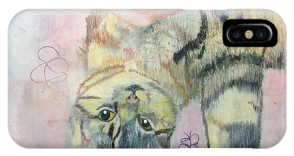 Playful Cat Named Simba IPhone Case