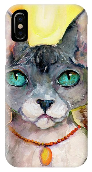 Cat Portrait My Name Is Adorable IPhone Case