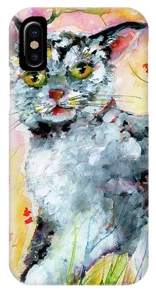 Cat Portrait My Name Is Hobo IPhone Case