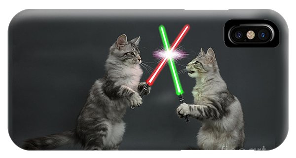 IPhone Case featuring the photograph Cat Wars by Warren Photographic