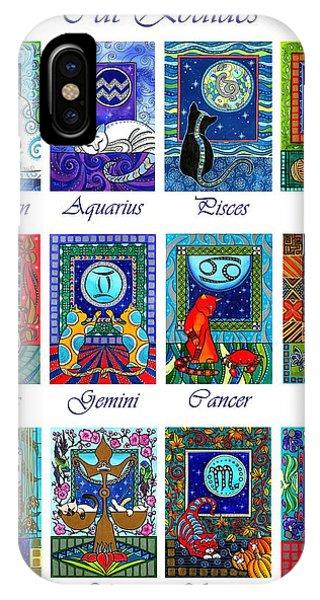 Cat Zodiac Astrological Signs IPhone Case